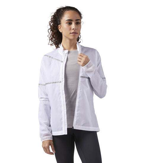Reebok - Hero Reflective Running Jacket White CD5465
