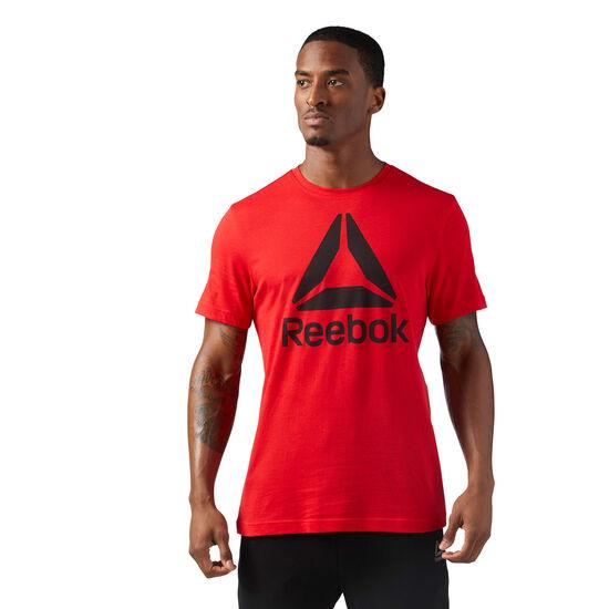 Reebok - Stacked Logo Tee Primal Red CF3906