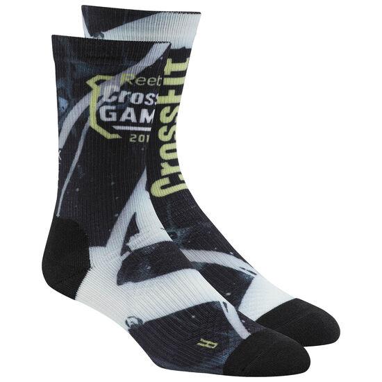 Reebok - Reebok CrossFit Games Crew Sock - Heleorig Print Black CF8559
