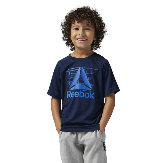 Reebok - Boys Essentials Polyester Tee Collegiate Navy/Vital Blue BQ9792