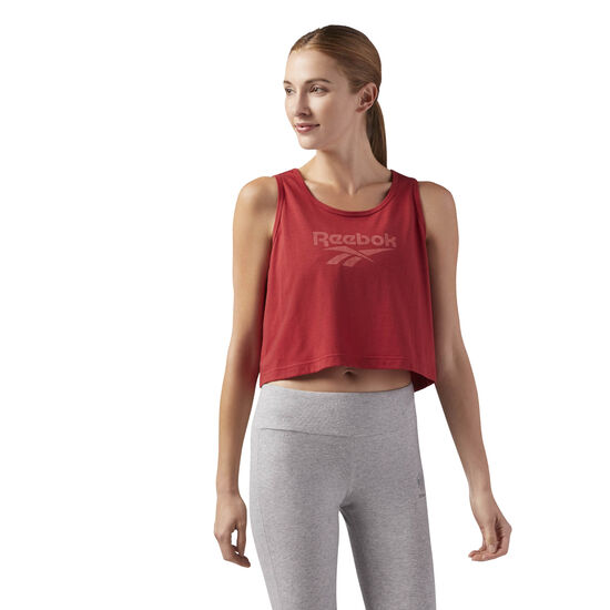 Reebok - Essential Cropped Tank Rich Magma CF3961