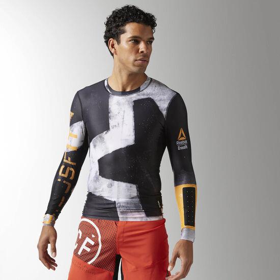 Reebok - Reebok CrossFit Engineered Compression Long Sleeve Shirt Black B45167