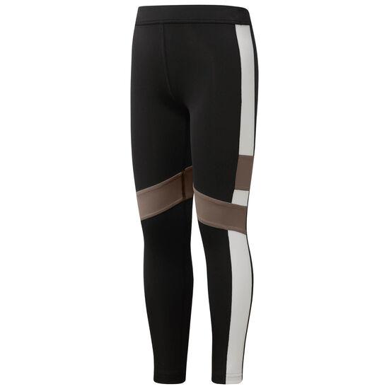 Reebok - Striped Cut Out Performance Leggings Black CG0341