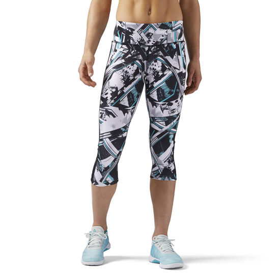 Reebok - Workout Ready Capri Multicolor/Solid Teal CE4449