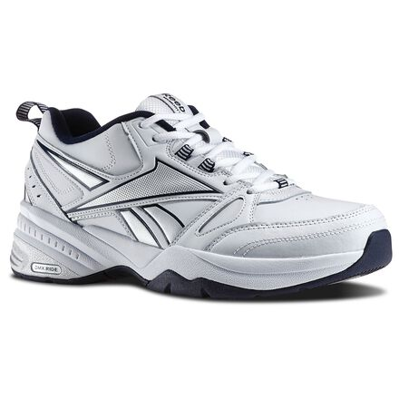 Reebok Mens Royal Trainer MT in White / Reebok Navy / Pure Silver Size 7.5 - Walking, Training Shoes