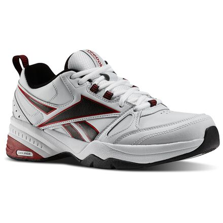 Reebok Mens Royal Trainer MT in White / Black / Excellent Red Size 8 - Training, Walking Shoes
