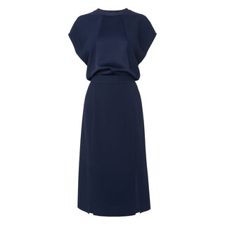 Kelly Cut Out Dress, in Navy on Whistles