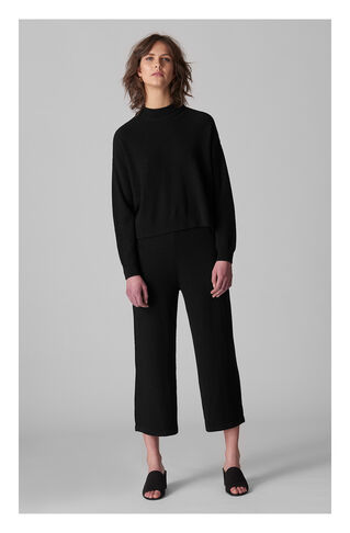 Textured Funnel Neck Knit, in Black on Whistles