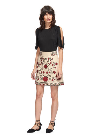 Delia Embroidery Skirt, in Multicolour on Whistles