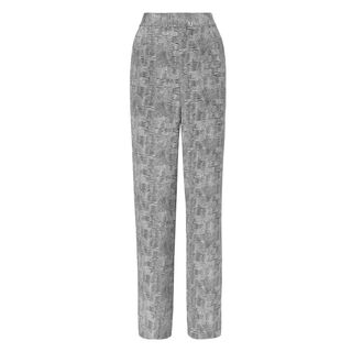 Lizard Print Trouser, in Black and White on Whistles