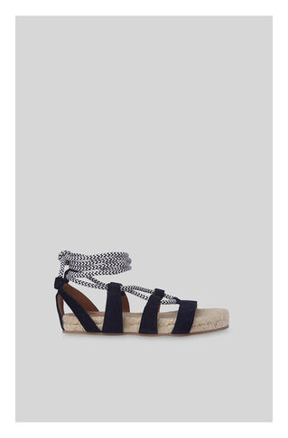 Hacienda Rope Sandal, in Navy on Whistles