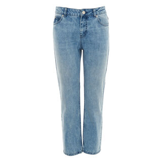 Washed Straight Leg Jean, in Denim on Whistles