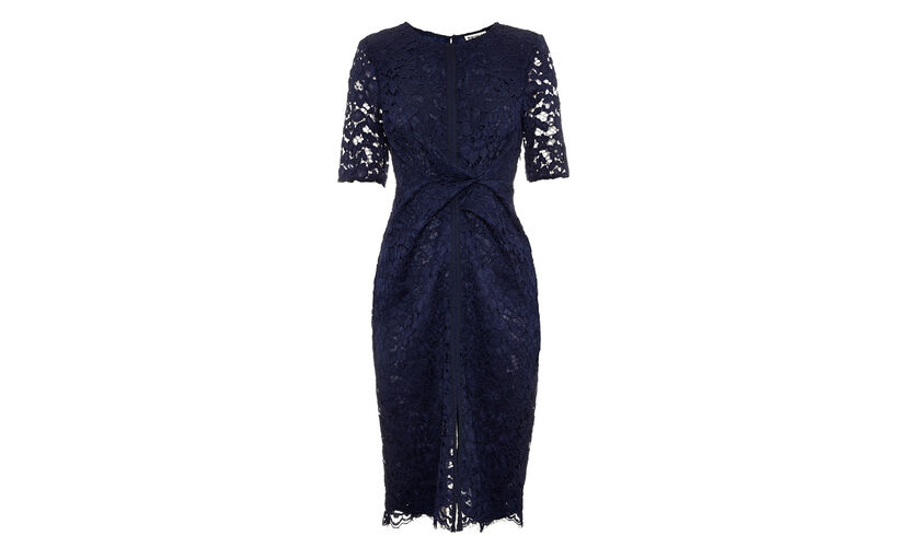 Camilla Lace Dress, in Navy on Whistles