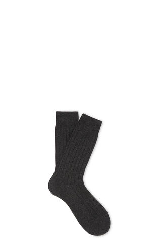 Cashmere Socks, in Dark Grey on Whistles