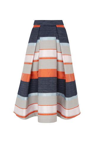 Stripe Jacquard Midi Skirt, in Multicolour on Whistles