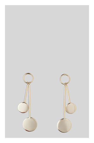 Circle Disc Drop Earring, in Gold on Whistles