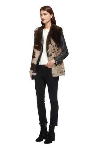 Helvin Cow Shearling Gilet, in Multicolour on Whistles