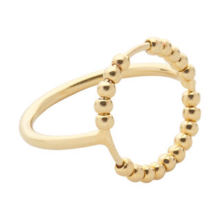 Seed Bead Circle Ring, in Gold on Whistles