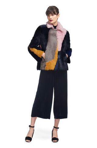 Colour Block Toscana Coat, in Multicolour on Whistles