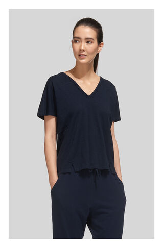 Lace Back Relaxed Tshirt, in Navy on Whistles