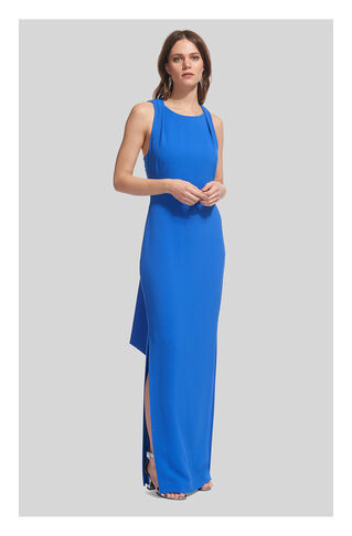 Tie Back Maxi Dress, in Blue on Whistles