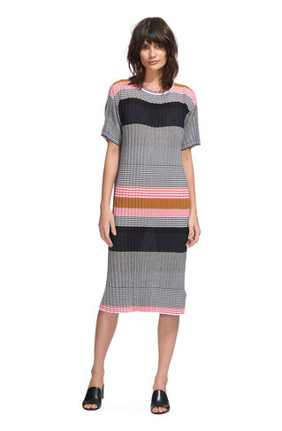 Pleat T-shirt Dress, in Multicolour on Whistles