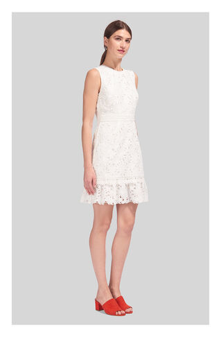 Ella Lace Dress, in White on Whistles