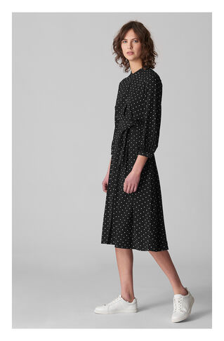 Kamala Belted Spot Shirt Dress, in Black and White on Whistles