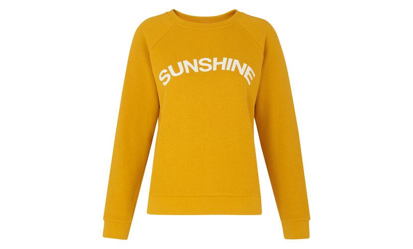 Sunshine Logo Sweatshirt, in Yellow on Whistles