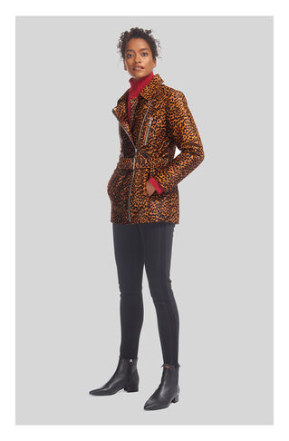 Leopard Leather Biker, in Multicolour on Whistles