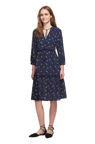Ashley Isla Print Dress, in Blue/Multi on Whistles