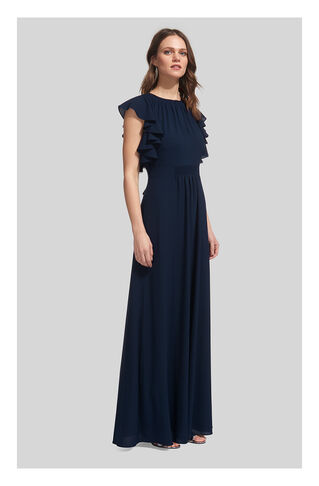 Zyta Frill Maxi Dress, in Navy on Whistles