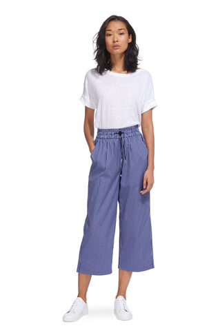 Ash Stripe Poplin Trouser, in Multicolour on Whistles