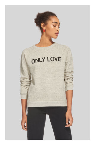 Only Love Sweatshirt, in Grey Marl on Whistles