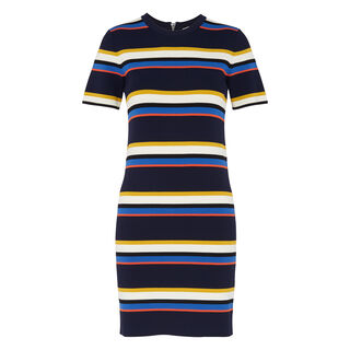 Stripe Tee Dress, in Multicolour on Whistles