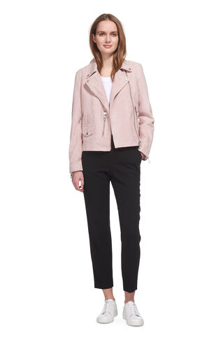 Suede Agnes Biker, in Pale Pink on Whistles