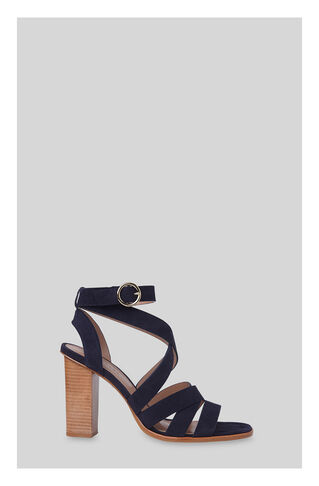 Ivor Crossover High Sandal, in Navy on Whistles