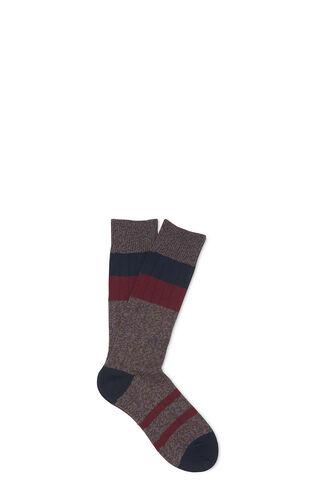 Stripe Cotton-Blend Socks, in Grey/Multi on Whistles