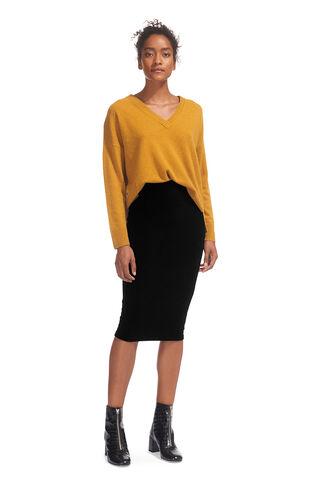 Velvet Jersey Tube Skirt, in Black on Whistles