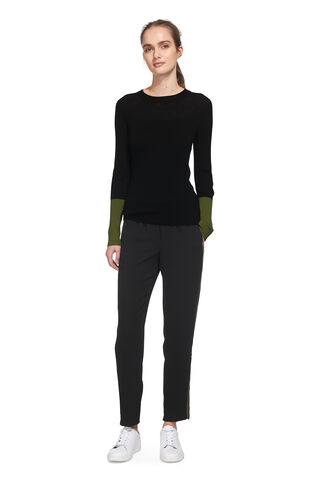 Colour Block Cuff Knit, in Black on Whistles