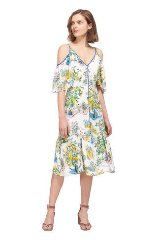 Cold Shoulder Garden Dress, in Multicolour on Whistles