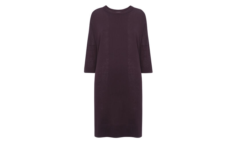 Gelsey Oversized Tunic Knit, in Burgundy on Whistles