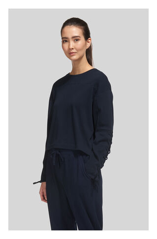 Tie Sleeve Sweat, in Navy on Whistles