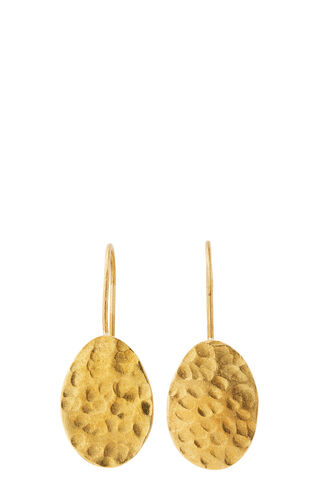 Made Hammered Drop Earring, in Gold on Whistles