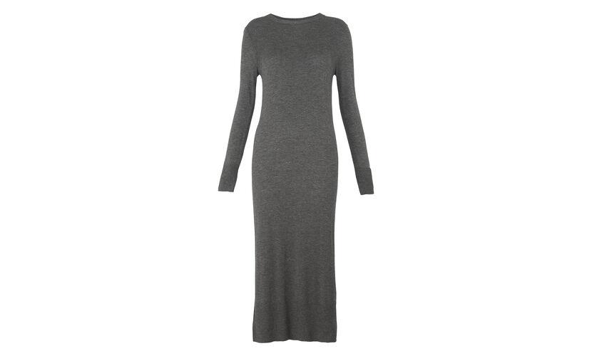 Midi Annie Sparkle Knit Dress, in Dark Grey on Whistles