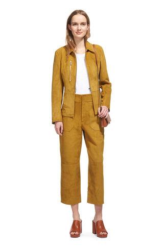 Anya Clean Suede Jacket, in Olive on Whistles