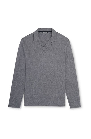 Pressed Collar Polo, in Grey on Whistles