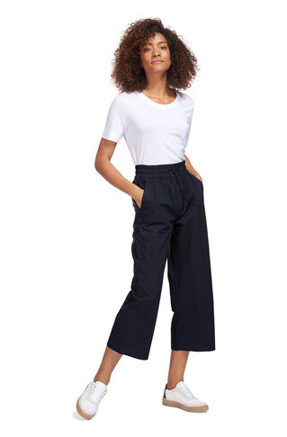 Ash Poplin Trouser, in Navy on Whistles