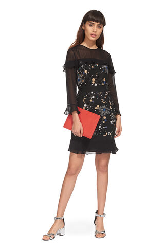 Nancy Embellished Galaxy Dress, in Black on Whistles