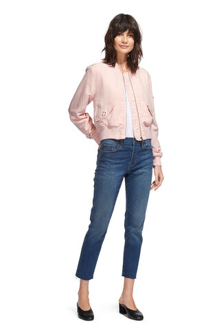 Rudy Casual Bomber Jacket, in NUDE on Whistles